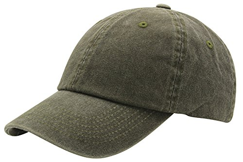 AZTRONA Baseball Cap Men Women Hat - Unisex 100% Cotton Plain Pigment Dyed,Olive