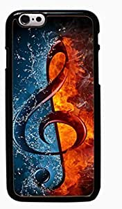 Treble Clef Music Hard Case for Apple iPhone 6 6G 4.7 ( Sugar Skull )
