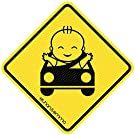 Best See-Thru Baby On Board Sticker For Smart Parents, Unobstructed View, Stays On, Works With Tinted Window, Removable And Will Not Fade