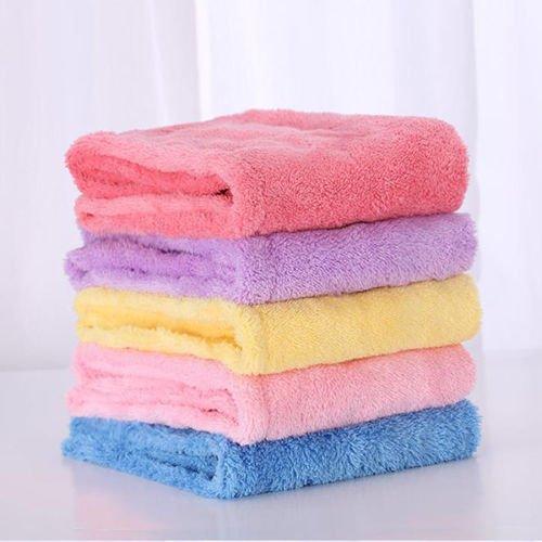 XENO-Turban Twist Dry Shower Microfiber Hair Wrap Towel Drying Bath Spa Head Cap Hat (yellow)