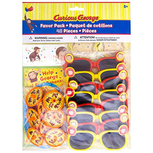 Curious George Party Supplies (Curious George 'Celebrate' Favor Pack)