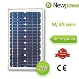 25 Watts Monocrystalline Newpowa High Quality 12v Mono Solar Panel Module 20W < 25W < 30W Rv Marine Boat Off Grid