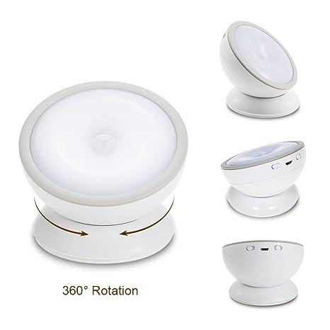 Amazon.com: Lixada 1,5 W 360 grados giratorio armario luz ...