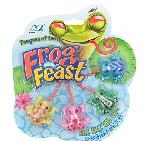 4pc STICKY STRETCH FROG TONGUES, Case of 72