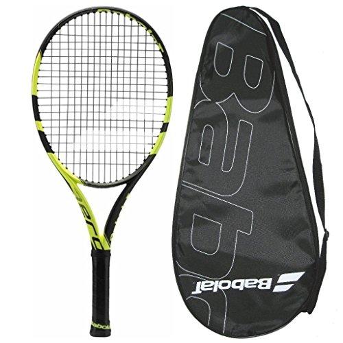 2016 Babolat Pure Aero Junior 26 Tennis Racquet Srung with Cover Grip Size 4, 4 1/8