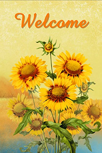 "Dtzzou Welcome Sunflowers Garden Flag 12"" x 18"" - Outdoor &"