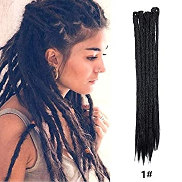 Amazoncom Dsoar Dreadlocks Extensions For Womenmen 20 Inch 12