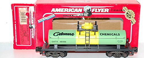- American Flyer 6-48406 Celanese Chemicals Tank Car GATX 48406 S Scale single dme