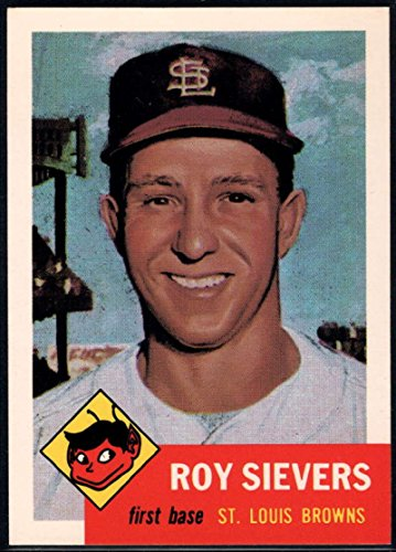 1991 Topps Archives 1953 Baseball #67 Roy Sievers St. Louis Browns Official MLB Trading Card (Reprint of