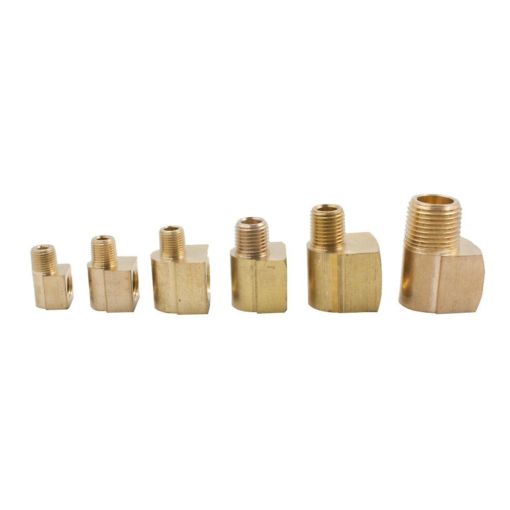 Vis Brass Inverted Flare Fitting, 90 Degree Male Elbow, 3/8'' Tube OD x 1/4'' NPT Male (Pack of 20)