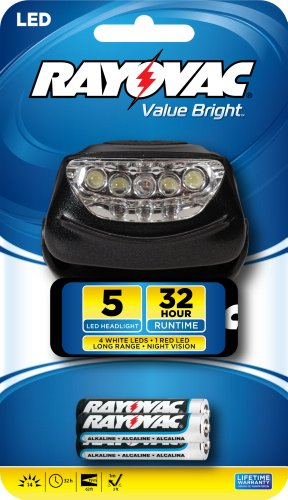 Rayovac 14 Lumen Headlight Batteries BRS5LEDHLT BB