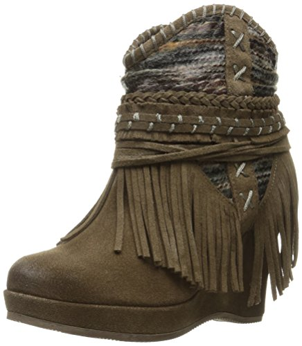 (Naughty Monkey Women's Canyon Dream Ankle Bootie, Taupe, 9.5 M US)