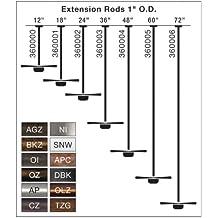 Kichler 360002OBB 24-Inch Extension Downrod, Oil Brushed Bronze
