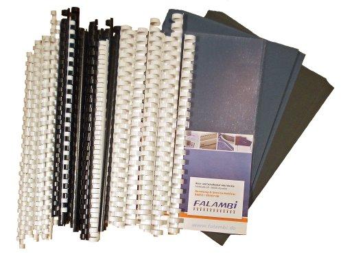 Starterset für Plastikbindegerät - 155 Teile - Binderücken, Deckelfolien, Einbanddeckel...