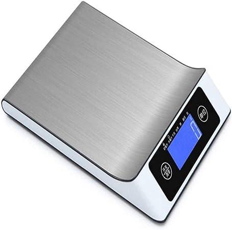 Opinión sobre Báscula electrónica para alimentos, Báscula de cocina doméstica de acero inoxidable, Báscula de 15 kg, Báscula electrónica de soporte, LCD de fácil lectura, Sistema de sensor de alta precisión, 10 kg
