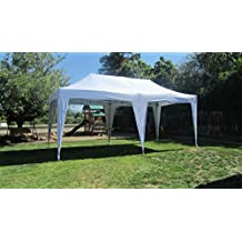 Impact Canopies Easy Pop Up Canopy Tent, 10 x 20-Feet, White