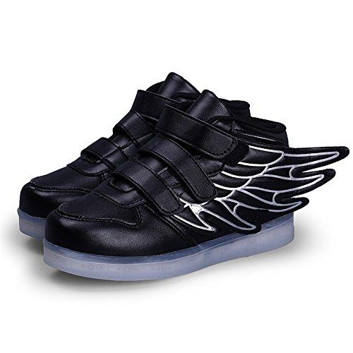 実行可能フォージ記者発光シューズ スニーカー 光る靴 USB充電 スニーカー ハイカット スポーツシューズ LEDシューズ 光るシューズ LED靴 レディース メンズ キラキラ 男女兼用