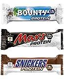 Mars, Snickers & Bounty Protein Bars (Mixed Box) - 12 Bars