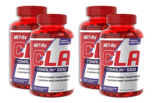 CLA Tonalin 90 Softgels (4 Pack) by MET-RX
