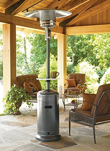 AZ Patio Heaters HLDS01 WCBT Tall Patio Heater With Table, 87 Inch,