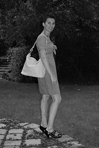 Jaune Modèle femme Chic italien MY en Sac CUIR OH Main So à BAG O7qwTzB