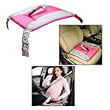 OFKPO Pregnancy Car Seat Belt Adjustable Maternity Belt Protect Pregnant Women and Baby (Pink)