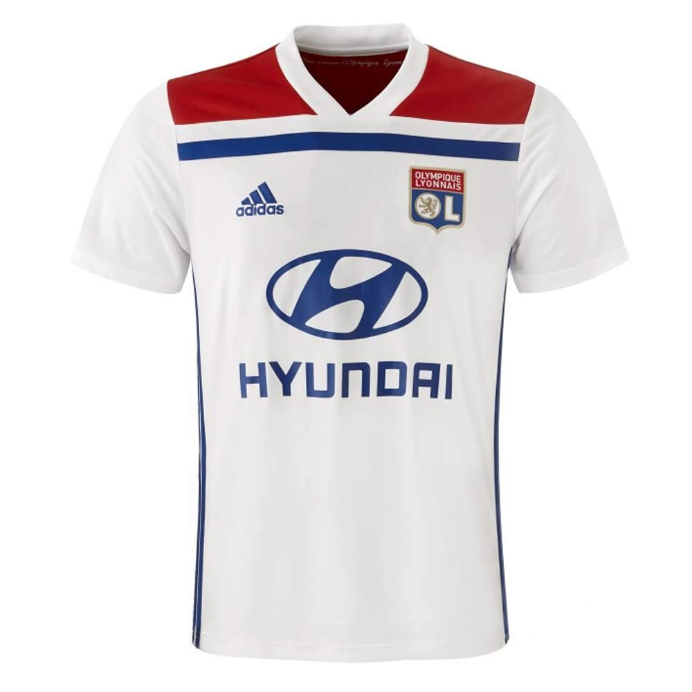 59da861affe 2018-19 Olympique Lyon Home Football Shirt (Nabil Fekir 18)  Amazon.com.au   Sports