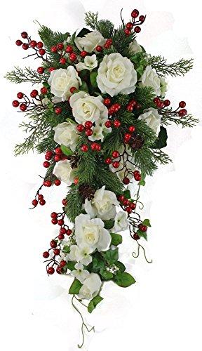 Winter-Berry-Rose-Bridal-Cascade-Silk-Wedding-Flower-Bouquet-Ivory-Red