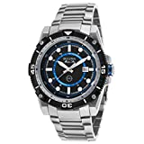 Men's Marine Star Stainless Steel Black Dial Blue Accent