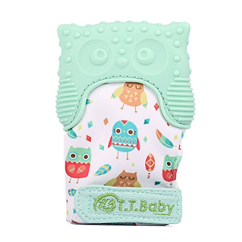 Teething Mitten Owl Teething Toy for Babies Self-Soothing Pa