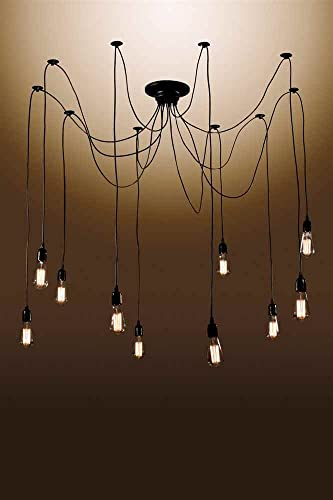 Whse of Tiffany LD4901 10-Bulbed Chandelier, 18 x 13 x 10