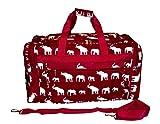 High Fashion Print Gym Dance Cheer Travel Duffle Bag 21'' (Burgundy Elephant)