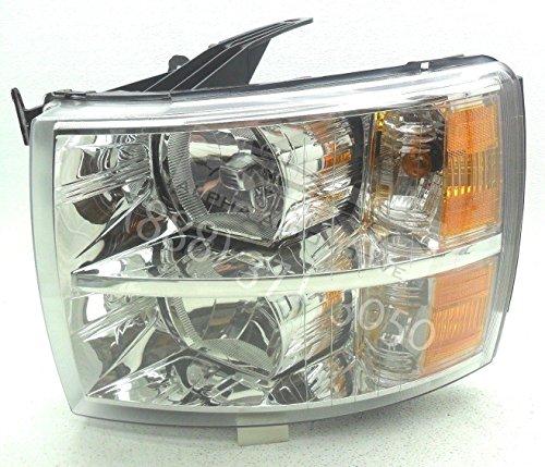 (General Motors Genuine OEM 2007-2014 Chevy Silverado 1500 2500 3500 Left Headlamp Headlight)