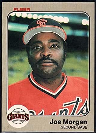 Baseball MLB 1983 Fleer #270 Joe Morgan Giants