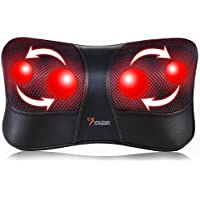 VIKTOR JURGEN Shiatsu Kneading Massage Pillow with Heat Neck Shoulder & Back Massager for Home/Car/Office