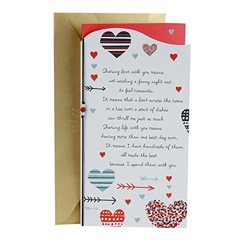 Hallmark Valentine's Day Between You and Me Greeting Card for Romantic Partner (Hearts and Arrows)