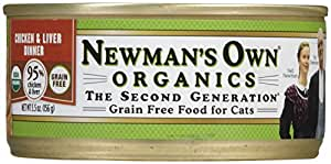 Newman's Own Organics USDA Organic 95% Chicken & Liver Grain-Free Dinner for Cats - 24 x 5.5 oz