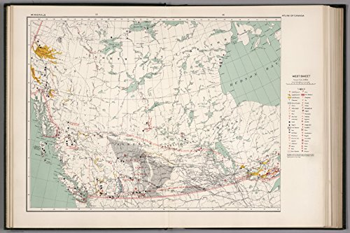 Map Poster   West Sheet  Mineral Map Of The Dominion Of Canada 13  X 19