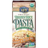 Lundberg Organic Garlic and Olive Oil Brown Rice Pasta, 4.5 Ounce -- 6 per case.