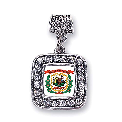 Inspired Silver West Virginia Flag Charm Bracelet