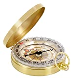 Toch Camping Hiking Portable Pocket Watch Flip-Open Compass Outdoor Navigation Tools – Gold