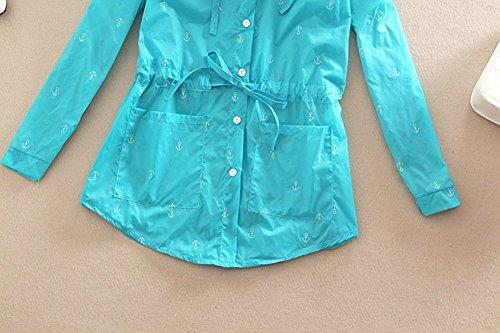 LifeWheel Ultrafino ropa de playa los rayos UV abrigo aire libre protección solar ropa Blue