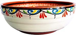 Cactus Canyon Ceramics Spanish Terracotta Deep Serving Dish, White