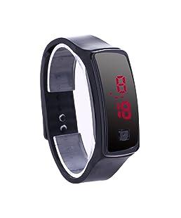 Prosperveil Fashion LED Bracelet Digital Watches Unisex Sports Wristwatch(Black)