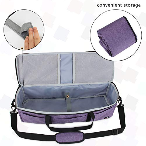 Luxja Foldable Bag Compatible with Cricut Explore Air and Maker, Carrying Bag Compatible with Cricut Explore Air and Supplies (Bag Only), Purple by LUXJA (Image #3)