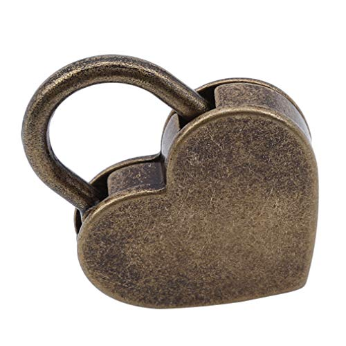 EH-LIFE Padlock Mini Love Heart Shape Padlock Tiny Luggage Bag Case Keys Suitcase Locker Hardware Set by EH-LIFE (Image #4)