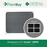 hunter purifier filters 30920 - Hunter 30920 30905 Air Purifier Replacement Filter. Designed by FilterBuy to fit Hunter Models 30050, 30055, 30065, 37065, 30075, 30080 & 30177.