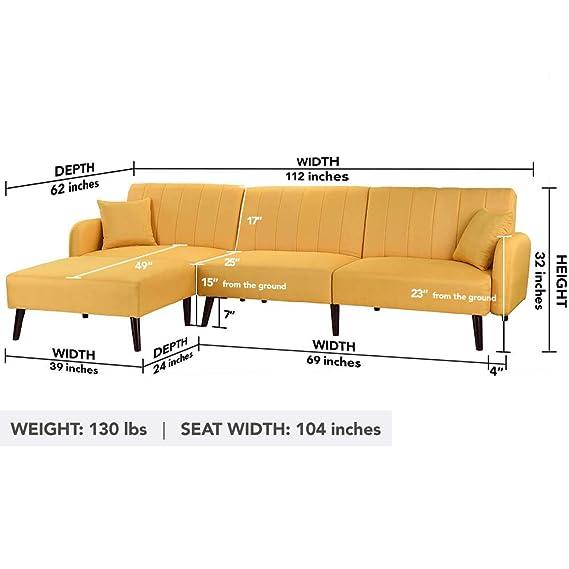 Amazon.com: Casa Andrea Milano - Sofá cama de estilo moderno ...