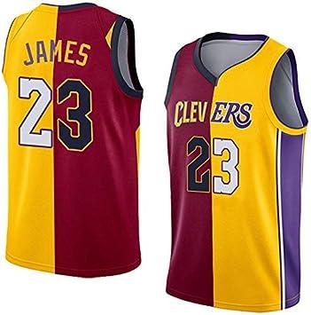 SansFin NO.23 Lebron James, Jersey de Baloncesto, Lakers, Nuevo Tejido Bordado, Estilo de Ropa Deportiva: Amazon.es: Deportes y aire libre
