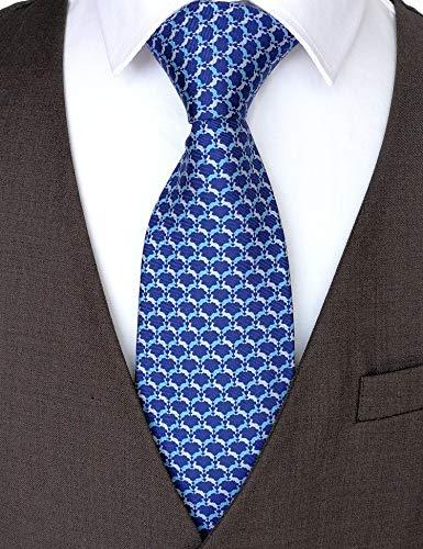 (100% Silk Ties for Men Handmade Neckties with Bunnies Printed+Gift box)